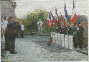 Commémoration des aviateurs anglais